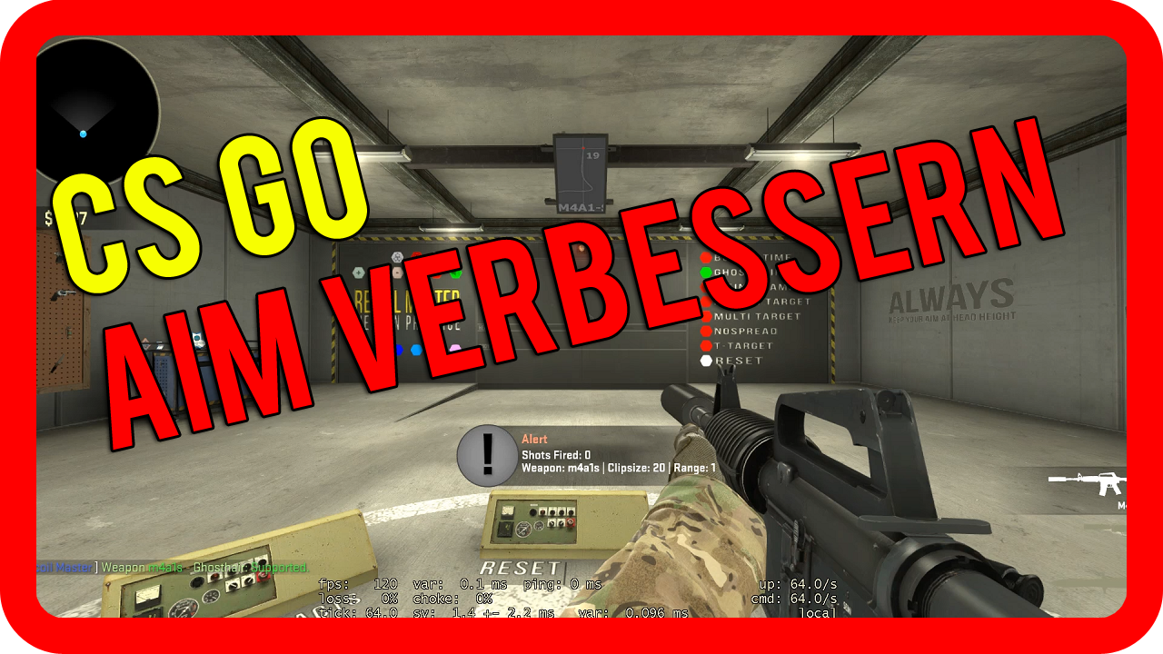 CS GO Aim verbessern &#8211; Aim Training Tutorial / Guide &#8211; CS GO besser werden Tipps [german/deutsch]>